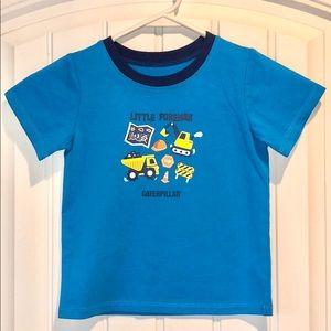 """NWOT Caterpillar """"Little Foreman"""" 3T Toddler Shirt"""